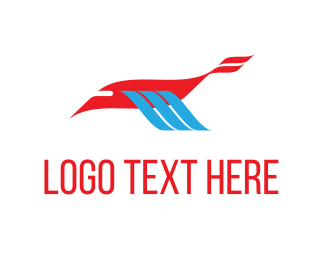 Drone - Bird Airline logo design