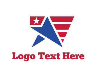Campaign - USA Star Flag logo design