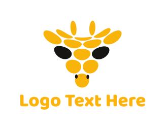 Spot - Abstract Giraffe Circle logo design