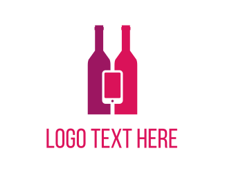 Iphone - Wine & Mobile logo design