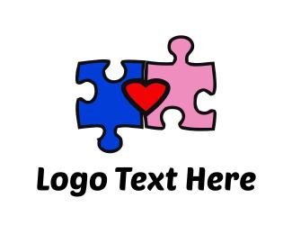 Friend - Puzzle & Love logo design