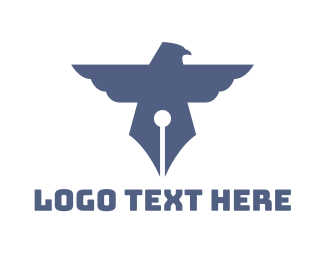 Copywriter - Pen Bird logo design