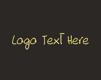 Text - Hand Drawn Font logo design