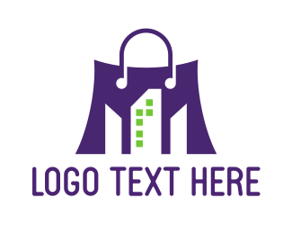 Purse - Violet Shopping Bag logo design
