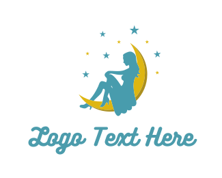 Female - Moon Lady logo design