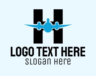 Aeroplane - Aviation Letter logo design