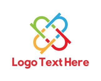 Four Leaf Clover - Colorful Letter N logo design