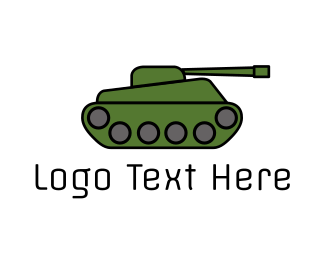 Rank - Green War Tank  logo design