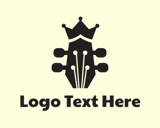 Guitarist - Royal Guitar  logo design