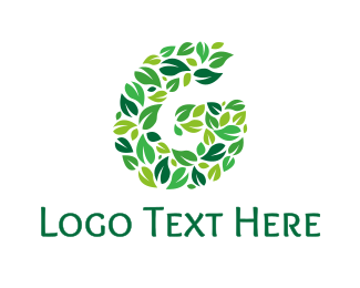 Green Tea - Colorful G Leaves  logo design