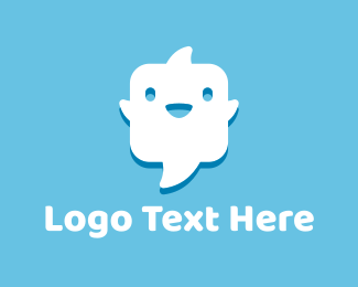 Talk - Ghost Chat logo design