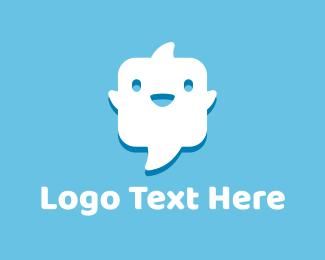 Talk Bubble - Ghost Chat logo design