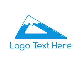 Mathematics - Mountain Ruler logo design