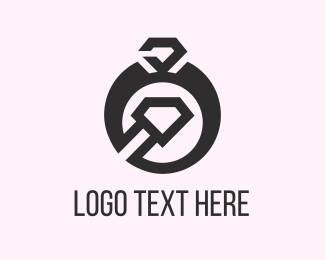 Engagement - Black Ring logo design