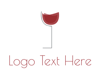 Pub - Red Wine Cup logo design