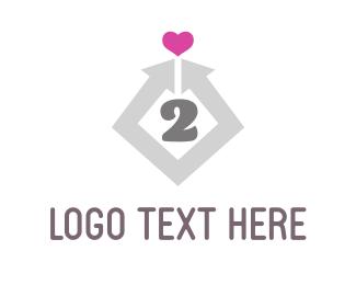 Friendship - Heart 2 Heart logo design