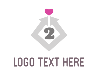 Number - Heart 2 Heart logo design