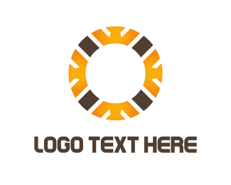Lumberjack - Crown Circle logo design