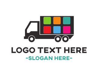Delivery Service - Truck Application logo design