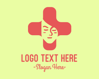 Female - Black Cross Female logo design