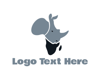 Africa - African Rhino logo design