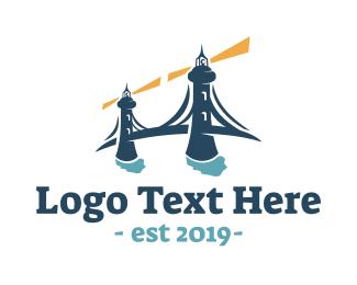 Coast - Lighthouse Bridge logo design