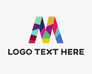 Colorful - Colorful Letter M logo design