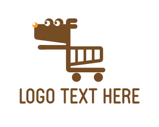 Supermarket - Dog Cart logo design