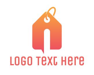 Tag - Orange Tag House logo design
