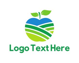 Juice - Apple Field logo design