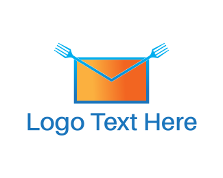 Envelope - Food Mail logo design