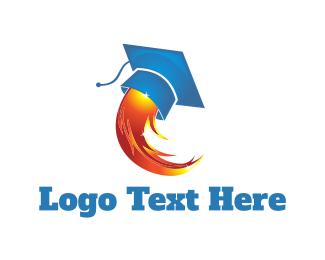 Graduation - Rocket Graduation logo design