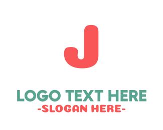 Coral - Coral Bold Letter J logo design