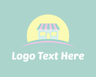 Shop - Cute Store & Sun logo design