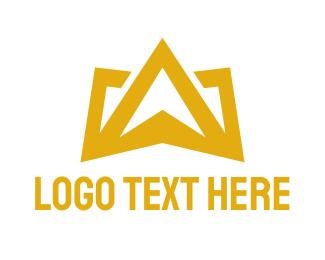 Glory - Gold Crown Mountain logo design
