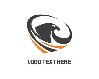 Grey - Eagle Tornado logo design