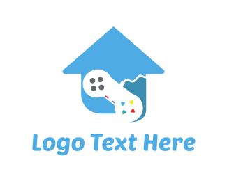 Joystick - Game House logo design