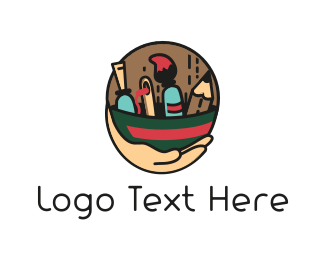 Handcraft - Painter Tools logo design