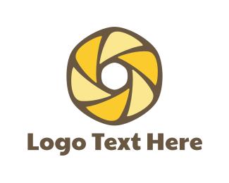 Doughnut - Pastry Lens logo design