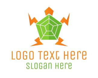 Tortoise - Electric Turtle logo design