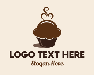 Coffee Shop - Hot Chocolate Cupcakes logo design