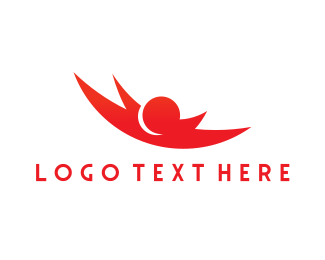 """Red Skydiving"" by Logobrands"
