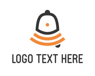 Signal - Orange Ring Bell logo design