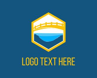 Lake - Yellow Bridge logo design