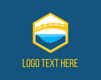 Riverside - Yellow Bridge logo design