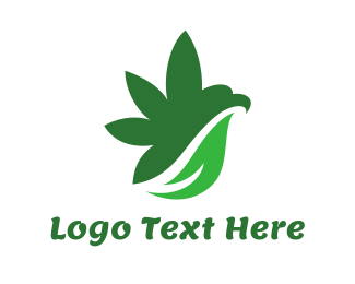 Drugs - Cannabis Bird Wing logo design