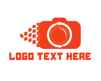 Shutter - Orange Camera logo design