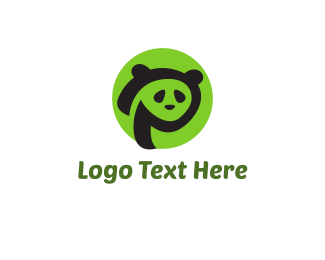 Panda - Green Panda logo design