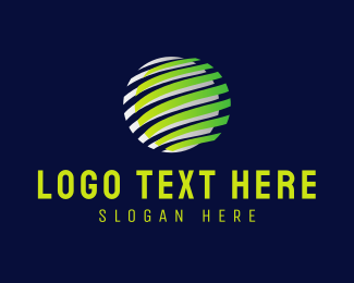 Global - Circle Stripes logo design