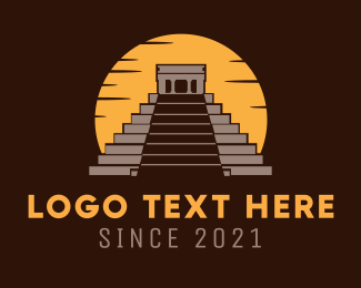 Mayan - Mexican Pyramid logo design